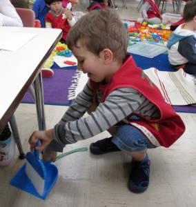 We learn to care for our classroom.
